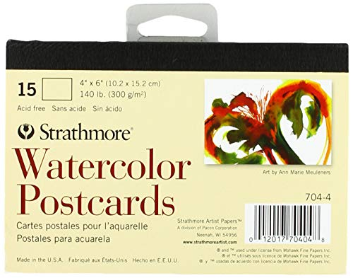 - Strathmore Blank Watercolor Postcards pad of 15 (Package May Vary)