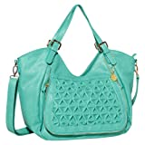 BIG BUDDHA Jainsley Tote,Turquoise,One Size, Bags Central