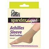 FootMatters Achilles Heel Sleeve Spandex Gel Cushions Large - Women 8-10 Men 9-11
