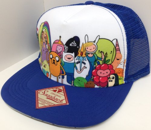 Mesh Trucker Adventure Time Foam Snapback Hat Cap Group Photo Cast of Characters