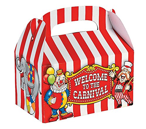 Fun Express Under the Big Top Empty Favor Boxes Party Access