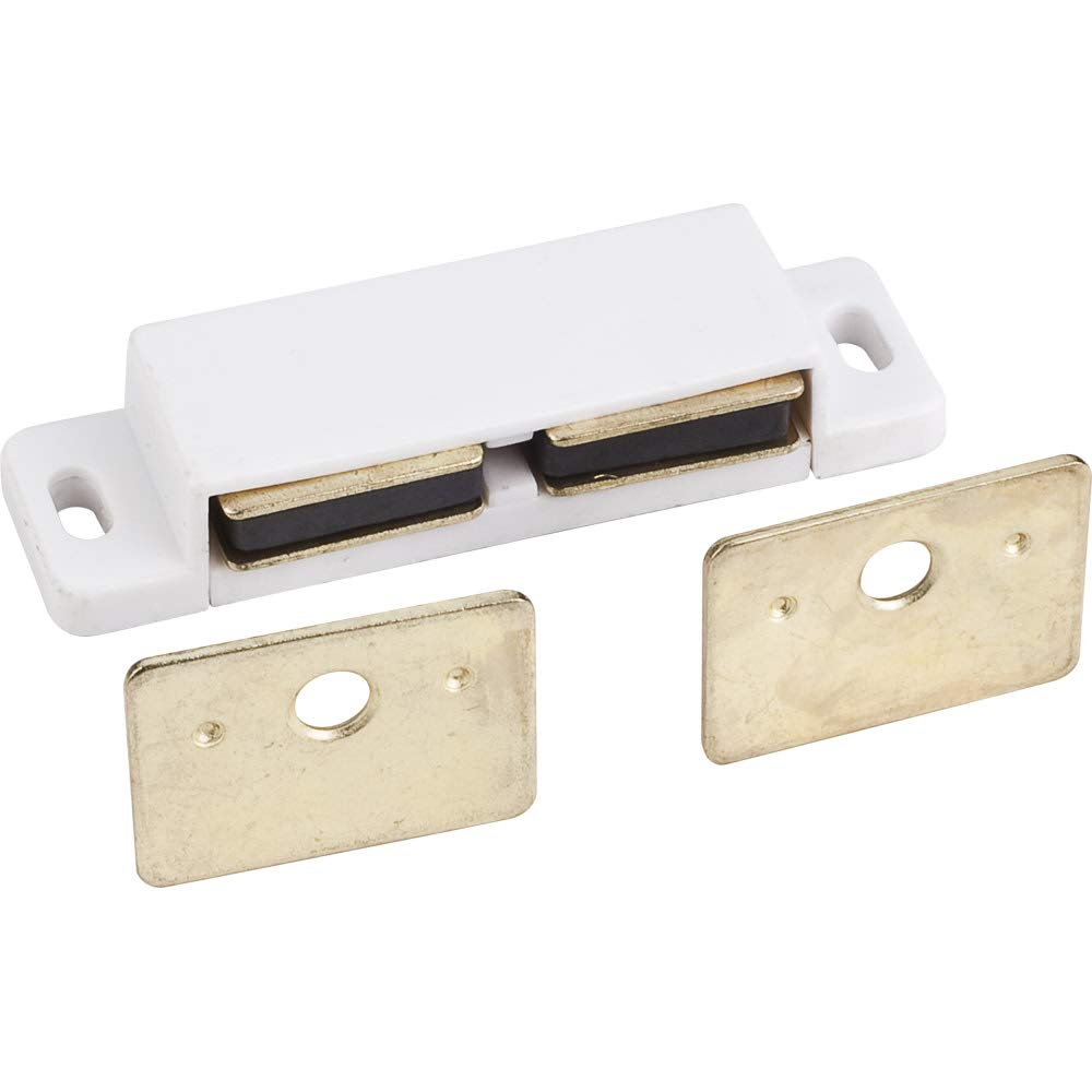 Hardware Resources 50623 Screw On Double Magnetic Cabinet Door Catch with Strike Plate - Pack of 100
