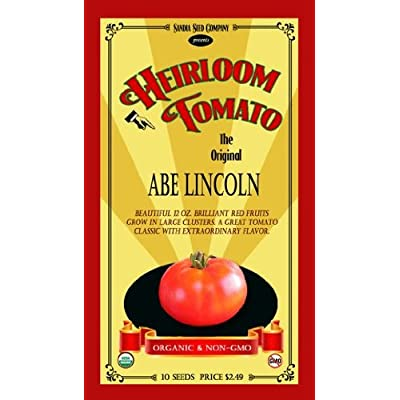 Abe Lincoln Heirloom Tomato - 10 Seeds - Organic and Non-GMO : Vegetable Plants : Garden & Outdoor