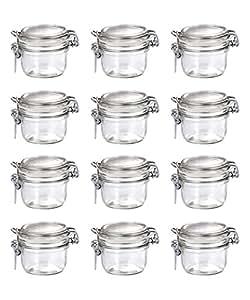Bormioli Rocco Fido Vaso Round Jar, 4.25 Ounces, 125ml, 12 Pack.