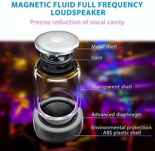 [2 Pack] Bluetooth Portable Speaker, True Wireless Stereo Speakers, Crystal Clear Stereo Sound, Rich Bass, 100 Ft Wireless Range, Microphone, LED Light Show, TF Card, Aux in, Mini Small Pocket Size¡ 51jCvZZfDIL