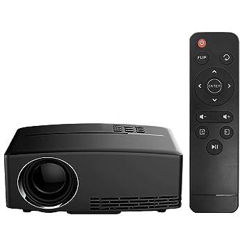 Proyector LED HD 1080P 1800 Lúmenes Vídeo/proyector de Película ...