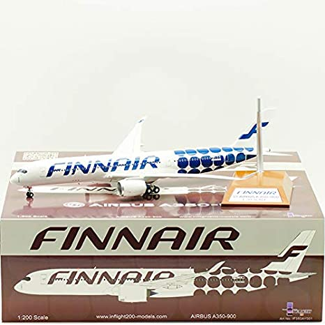 Finnair Airbus A350 PPC 1:200 Scale Plastic Snap Fit Model
