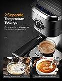 Brewsly 15 Bar Espresso Machine, Stainless Steel