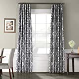 Ptpch-170803B-96 Tiera Printed Faux Silk Taffeta Blackout Curtain, 50 x 96, Grey Review