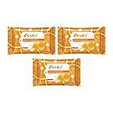 Zuci Deep Pore Cleansing Wipes with Citrus Fruit Extracts (Pack of 3=45 Wipes)