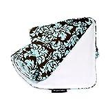 Ah Goo Baby Stroller Blanket, Vintage in Blue, Teal/Brown, 1-Pack