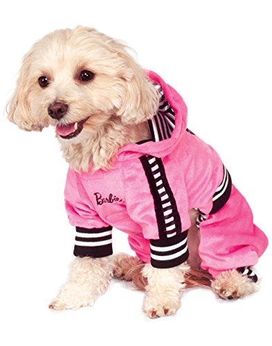 Ruby Jumpsuit (Rubie's Barbie Girl Velour Jumpsuit Pet Costume, X-Large)