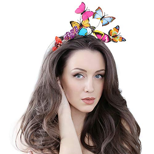 - Fascinators for Women Butterfly Creative Headband Tea Party Wedding Festival Headpiece