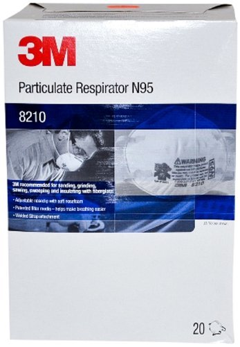 3M 8210 Dust Masks NIOSH Approved N95 1 Case (8 Boxes) by R3 Safety - MS92530