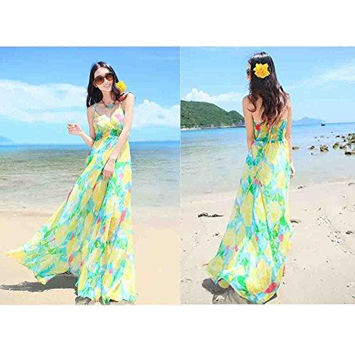Belt Casual Beach Beautiful Dress Chiffon Condole Green Broken Dress Dress qwpHaxS