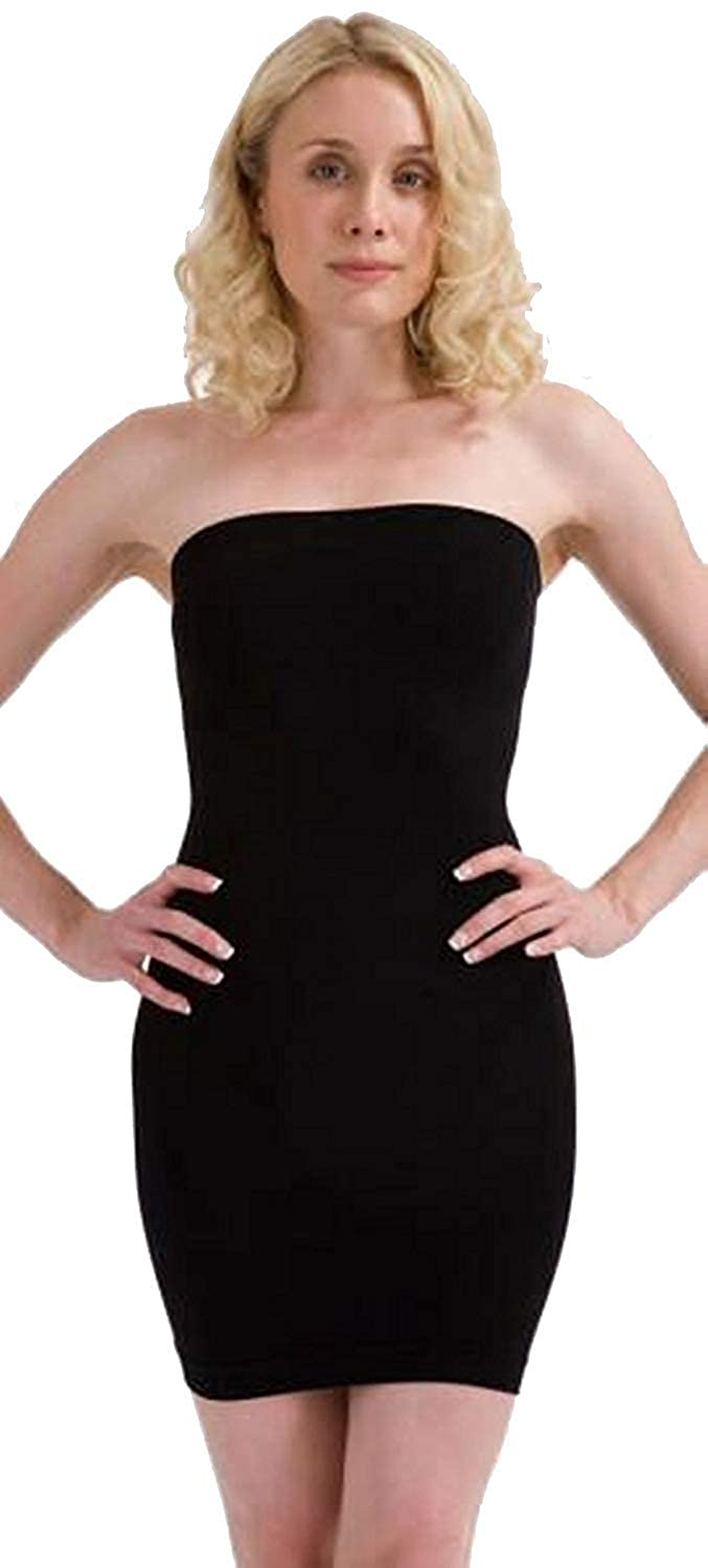 Womens Seamless Control Slimming Tube Boobtube Dress Shapewear Dress Top