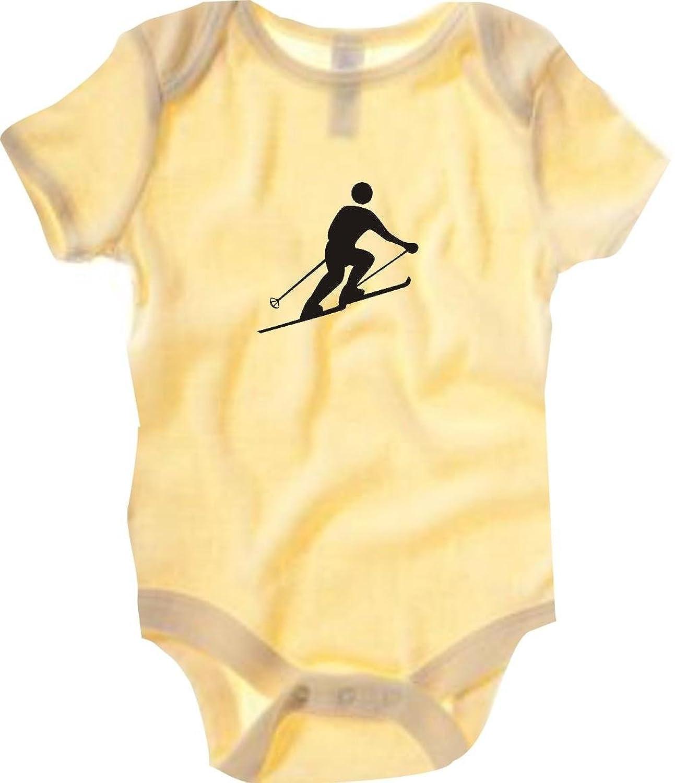 Krokodil Baby Body Skifahren Skifahrer Slalom Abfahrt viele Farben, Größe 3-24 Monate