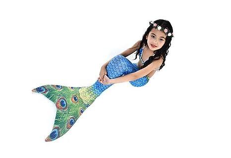 Amazoncom Lucky U Kids Mermaid Swimsuit Tankini Mermaid Tail