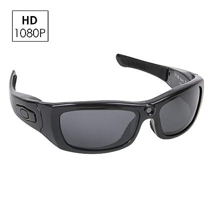OOLIFENG Gafas Cámara, 1080P HD Mini Espía Gafas con Cámara DV Videocámara Grabador De Vídeo