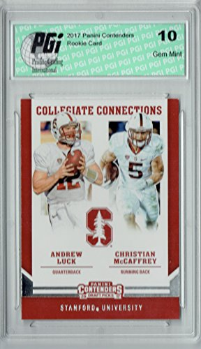Christian McCaffrey 2017 Contenders #4 Andrew Luck Rookie...