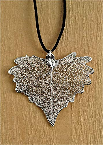 Silver Cottonwood Necklace with 18