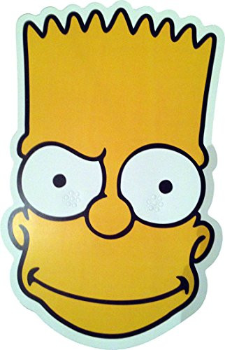 The Simpsons - Bart - Card Face Mask - Licensed Product -