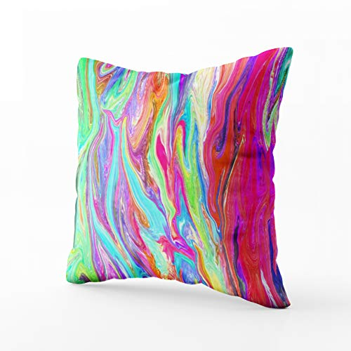 Musesh Liquid Color neon Cushions Case Throw Pillow Cover for Sofa Home Decorative Pillowslip Gift Ideas Household Pillowcase Zippered Pillow Covers 20X20Inch - Cover Lynn