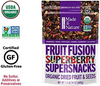 Dried Fruit & Raisins: Made in Nature Fruit Fusion