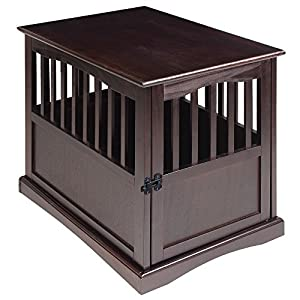 Casual Home 600-44 End Table, 24-Inch Pet Crate, 20″ W x 27.5″ D x H, Espresso