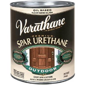 Rust oleum varathane 9251 1 pint classic clear oil based outdoor spar urethane gloss finish for Varathane water based exterior polyurethane