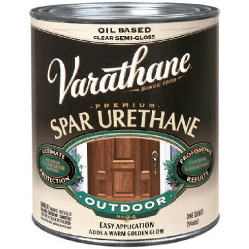 Rust-Oleum Varathane 9251 1-Pint Classic Clear Oil Based Outdoor Spar Urethane, Gloss Finish (Based Gloss Oil)