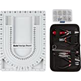 Jewelry Making Starter Kit Includes Jewelry Tool Kit, Complete Bead Board, Case of Silver Jewelry Findings - All You Need To Make Beautiful Jewelry Now!