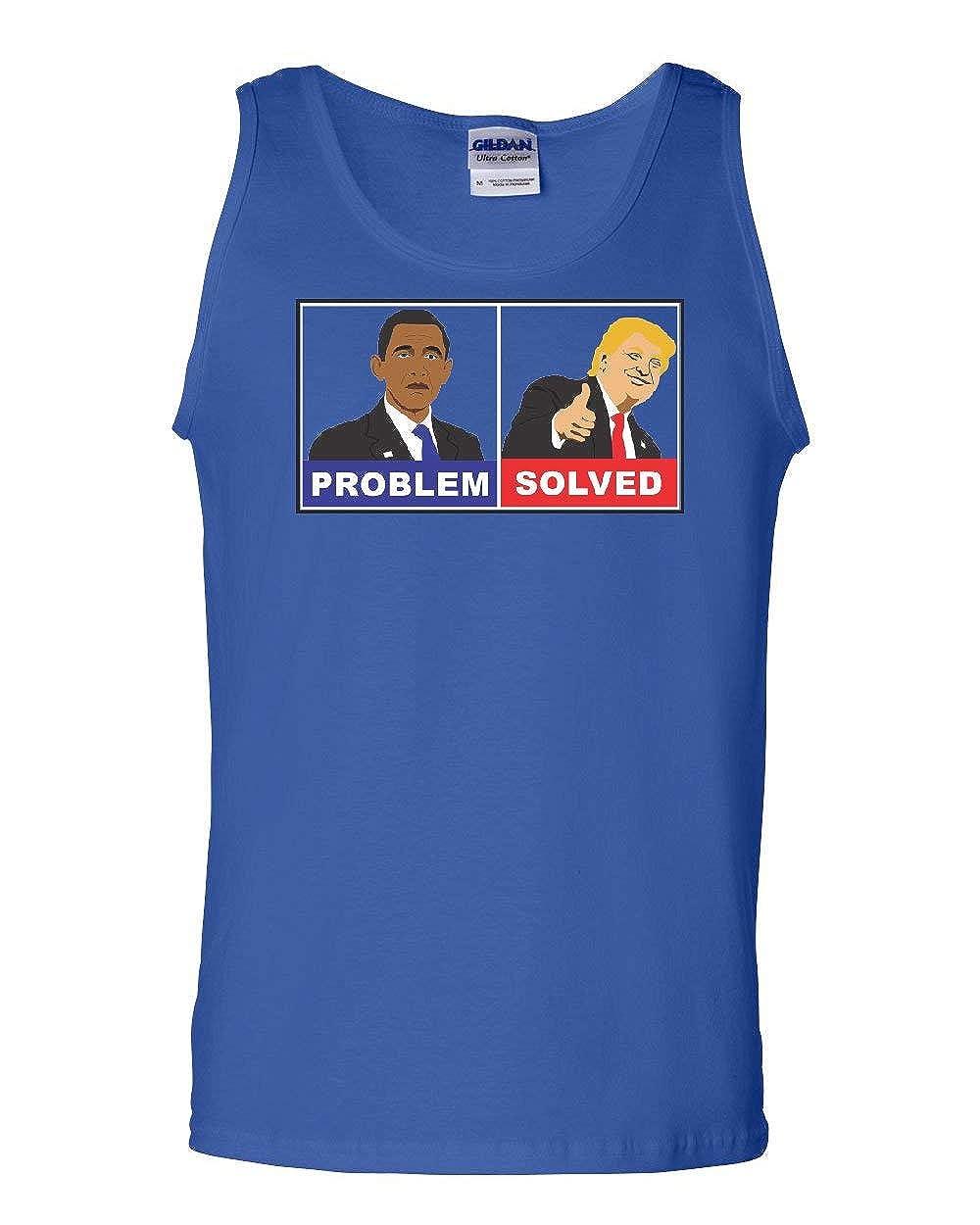 Tee Hunt Trump Obama Problem Solved Tank Top Pro Trump MAGA President 2020 Sleeveless