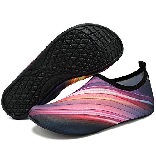 VIFUUR Shoes Unisex Shoes Quick Men Drying Gradient Yoga Water Purple Beach Pool Women for Aqua Exercise ggCrwTq