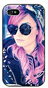 iPhone 5 / 5s Sexy girl - Demi Lovato - black plastic case / Verses, Inspirational and Motivational A