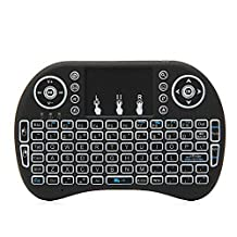 Wireless Mini Keyboard (Backlit version) by Tech Forest - Handheld 2.4GHz QWERTY Keyboard Touch Pad Air Mouse Combo For Android TV Box, PC, Laptop, Playstation, XBOX, and More