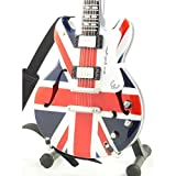 Oasis Miniature Guitar - Noel Gallagher - Epiphone Supernova Union Jack Flag - Wood Replica 25 cms