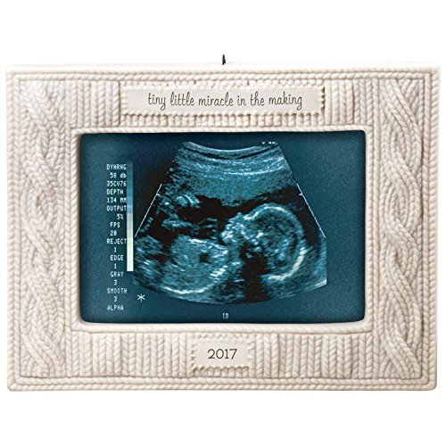 Making Memories Porcelain (Hallmark Keepsake 2017 Miracle in the Making Sonogram Photo Holder Porcelain Dated Christmas Ornament)