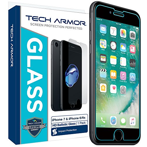 Tech Armor Apple iPhone 6 , iPhone 7 Ballistic Glass Screen Protector...