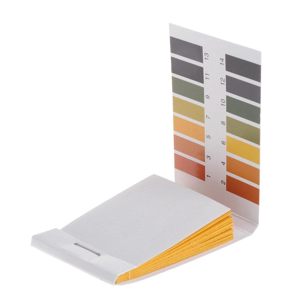 Xuniu Papier d'essai, bandelettes réactives d'indicateur de pH 1-14 pour Sol Aquatique 80 pièces, Blanc + Jaune