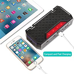 Car Jump Starter, Topdon T01 600A Peak 18000mAh Portable Car Jump Starter Power Bank Phone Charger Auto Battery Charger for 5L Gas and 3.5L Diesel Engine with Smart USB Charging Port and LED Light