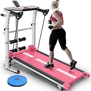 Well-Being-Matters 51jD0B0ahVL._SS300_ CffdoiPBJI Folding Ttreadmill, Pink Treadmill Foldable Manual Running Training Sports Multifunctional Mute Fitness…