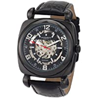 Akribos XXIV Men's AKR479BK Bravura Skeleton Automatic Square Watch