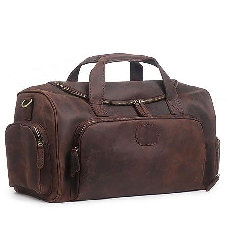 2bc2a6414268f LU Y Borsone Da Viaggio Da Uomo In Vera Pelle Vintage Da Viaggio Da Uomo - Borsa  Da ...