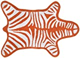 Jonathan Adler Zebra Reversible Bath Mat - Orange