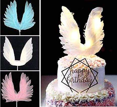 BlueSunshine - Decoración para tarta de alas de ángel con ...