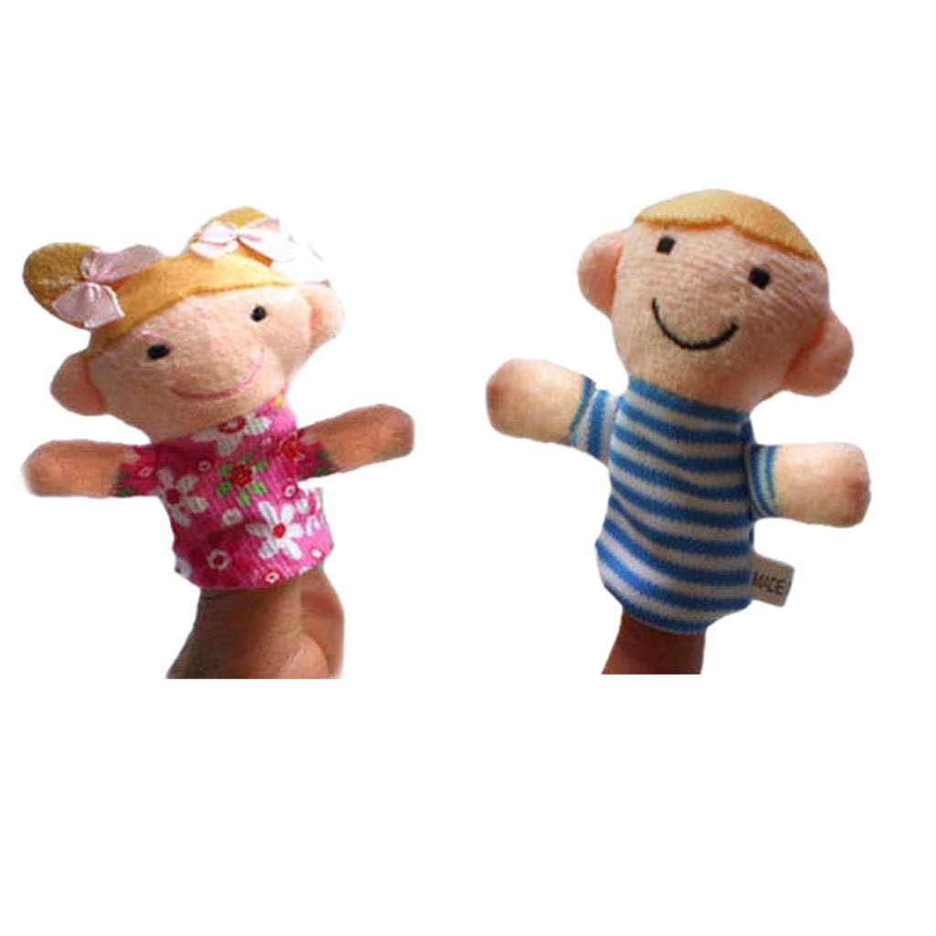 Baoblaze Niedliche Plüschtier Fingerpuppen Handpuppen für Kinder Geschicht zum Erklären - 2pcs Puppen 1