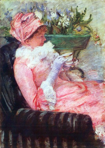The Museum Outlet - The cup of tea by Cassatt - Poster (24 x 18 Inch)