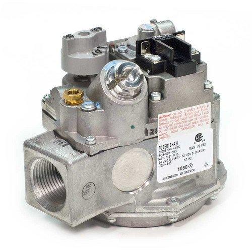1/2inch X 1/2inch Millivolt Gas Valve (240,000 BTU) - Robertshaw Millivolt Gas Valve