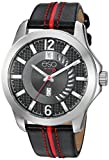 ESQ Men's Quartz Stainless Steel and Leather Casual Watch